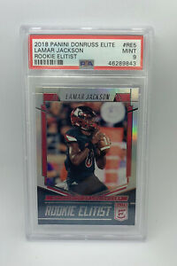 2018-Panini-Donruss-Elite-Lamar-Jackson-Rookie-Elitist-Rookie-Card-PSA-9-Mint