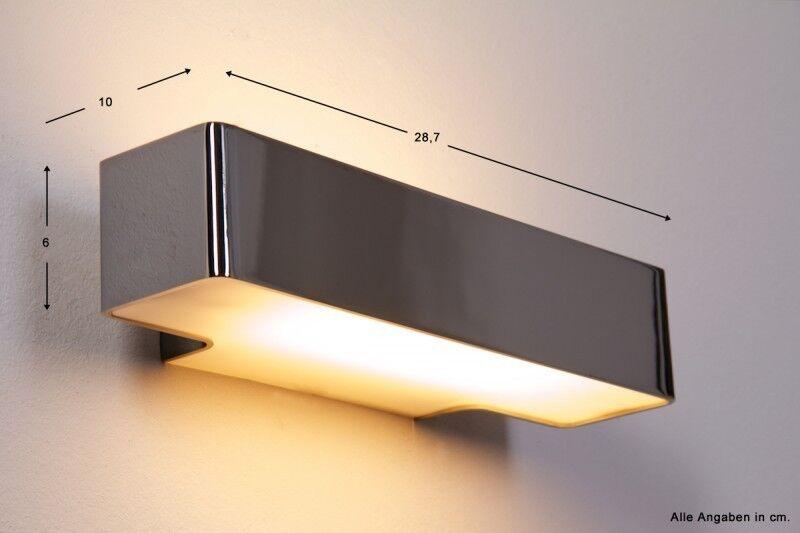 Wandlampe Wand Lampe Philips Ecomoods Chrom Design Lampen Glas Wandleuchte NEU | Primäre Qualität