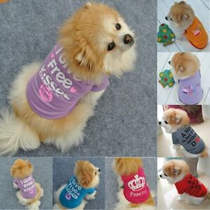 Ete-Animal-Chien-Chat-Mignon-Princesse-T-Shirt-Gilet-Manteau-Chiot-Vetements