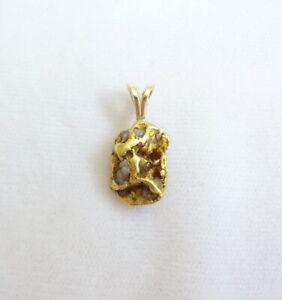 Natürlicher Goldnugget Anhänger mit Muttergestein Gold