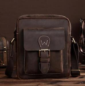 62b3055ac4e0 Image is loading 2018-Men-Genuine-Leather-Briefcase-Tote-Shoulder-messenger-