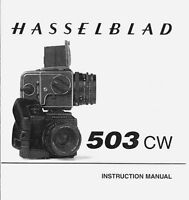 Hasselblad 503cw, 503 Cw Instruction Manual