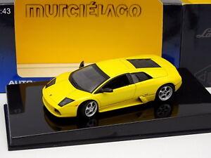 Auto-Art-1-43-Lamborghini-Murcielago-Amarillo