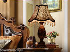 European Style Archaize Color E27 Height 53CM Resin+Fabric Bedroom Table Lamp