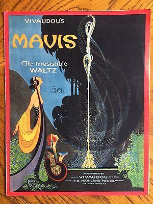 1920 VIVAUDOU MAVIS Perfumes & Powders Art Deco SHEET MUSIC by FRED L. PACKER
