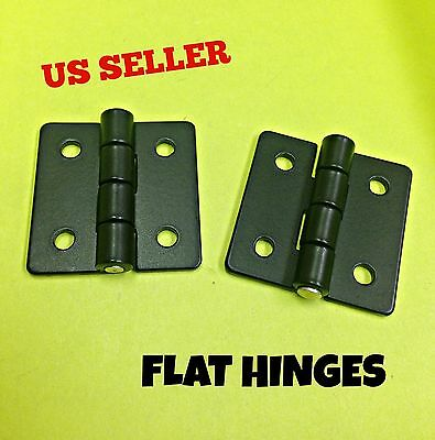 LOT OF 8 Black Flat Leaf Hinge Black For Heavy Doors Truck Cabinet 270° #900.1.2