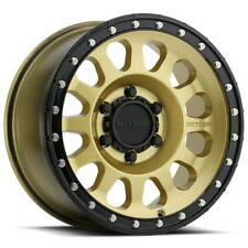 4ea 17x85 Method Wheels 315 Gold With Black Lip Off Road Rimss16 Fits Nissan Armada