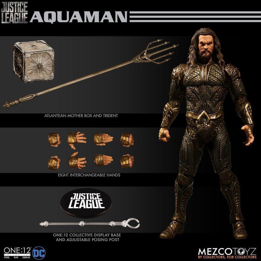 Dc mezco gerechtigkeitsliga  aquaman   12 - skala action - figur