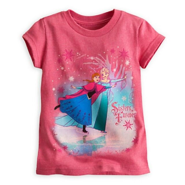 PRIMARK LADIES DISNEY FROZEN QUEEN ELSA BLUE LET IT GO T SHIRT TEE TOP UK 6-10