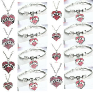Pink-Crystal-Heart-Pendant-Gifts-Mum-Grandma-Sister-Best-Friend-Necklace-Present