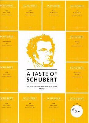 100% Wahr Schubert : A Taste Of Schubert, Für Mittlere Stimme, Schubert Lieder