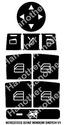 HHF Stickers New W204 Black Car A//C Climate Control Button Repair Sticker Decals For B-e-n-z C-Class W204 C300 C350 2008-2014 Color : Black