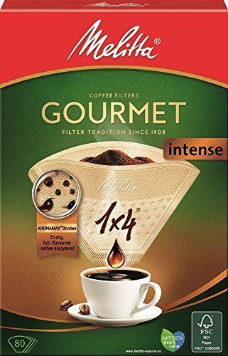 MELITTA GOURMET INTENSE Caffè Filtri 1x4 per i costruttori di Caffè Filtro pacco da 80