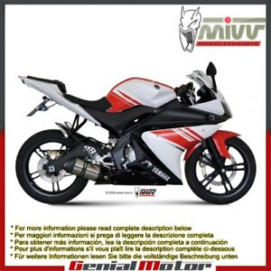 Scarico-Completo-MIVV-Suono-Acciaio-inox-per-Yamaha-Yzf-R125-2008-gt-2013