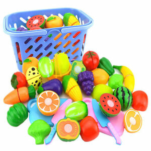 18Pcs Kid Child Pretend Role Play Kitchen Fruit Vegetable Food Toy Cutting Set