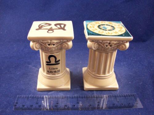 NEW NIB Libra Zodiac Sign Sep Oct Birthday Salt Pepper Shakers   C30B25