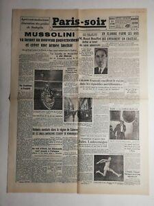 N339-La-Une-Du-Journal-Paris-soir-15-septembre-1943-Mussolini-gouvernement