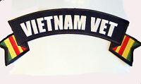 Motorcycle Jacket Patch Vietnam Vet 11x3 Nice Patch