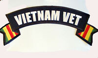 Motorcycle Jacket Patch Vietnam Vet 11x3 Nice Patch