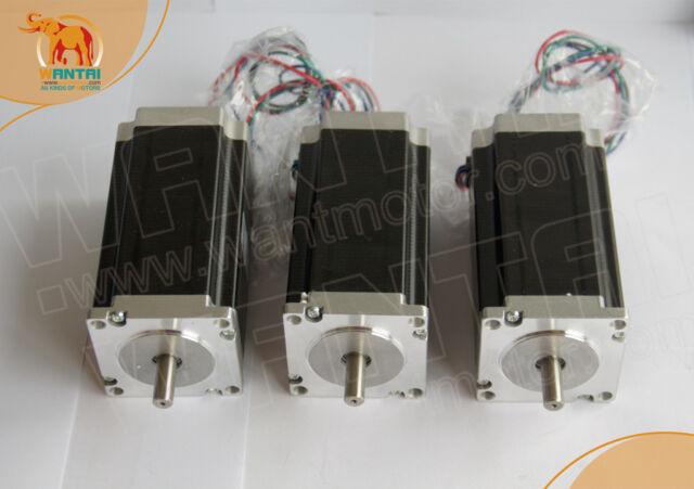 3 PCS  NEMA 23 Dual Shaft STEPPER MOTOR 570 OZ-IN Rated at 5A