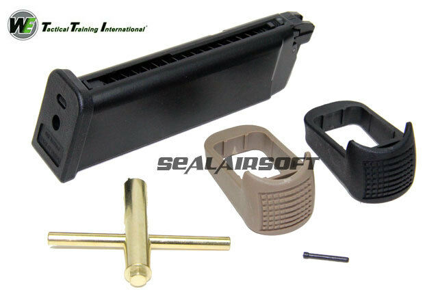 WE 24rd CO2 Airsoft Magazine For Marui G17 G18C WE G17 G18C G19 G23 G34 G35 GBB