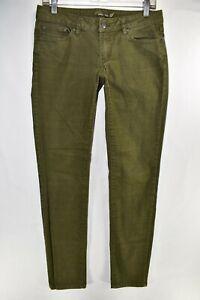 Prana-Kara-Jeans-Skinny-Slim-Organic-Cotton-Size-6-28-Green-Meas-30x32