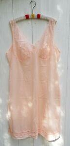 Pink-Scampi-Nighty-Undergarment-Negligee-Charmeuse-Perlon-Schiesser-Size-46