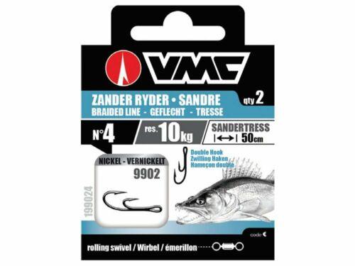 VMC Zander Ryder Braided Line 9902 50cm 2pcs Leader NEW 2020