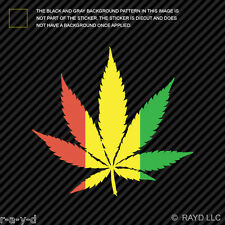 420 Rasta Marijuana Leaf Sticker Decal Self Adhesive Vinyl cannabis 420 hemp