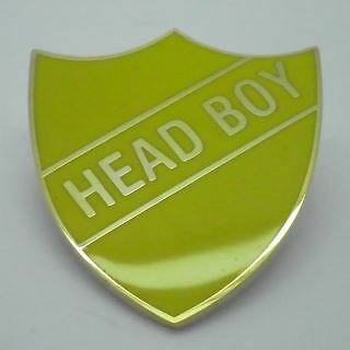 Yellow Or Red Head Boy Enamel Shield Badge Available In Blue Green