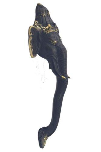 27,5cm Stoßgriff Türgriff aus einer Bronzelegierung Motiv Elefant ca