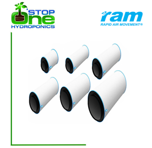 """RAM Carbon Fan Air Filter Hydroponics Grow Odour Removal 4/"""" 5/"""" 6/"""" 8/"""" 10/"""""""