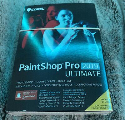 Corel Paintshop Pro 2019 Ultimate Photo Editing Software And Bonus Collection 735163153361 Ebay