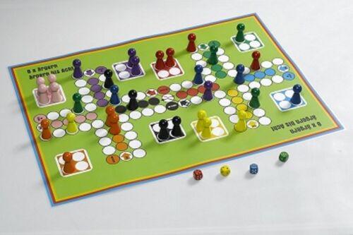 Brettspiel A2 Ludo Spiel für bis zu 8 Personen Spielplan 420 x 597 mm
