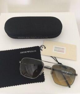 8f6ddeb503c1 Image is loading Vintage-Emporio-Armani-Sunglasses-EA-159-Shiny-Gunmetal-