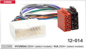KIA 2004+ CARAV 12-014 connector ISO OEM radio adaptador SONATA 2004+