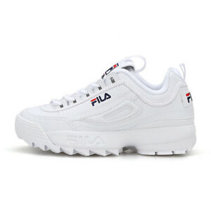 Details about 2019 New Original FILA Women Disruptor II 2 Shoes Sneakers - White(FS1HTB1071X)