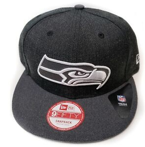 cheap for discount e2a8c a4868 Image is loading Seattle-Seahawks-New-Era-9Fifty-Charcoal-Action-Sideline-