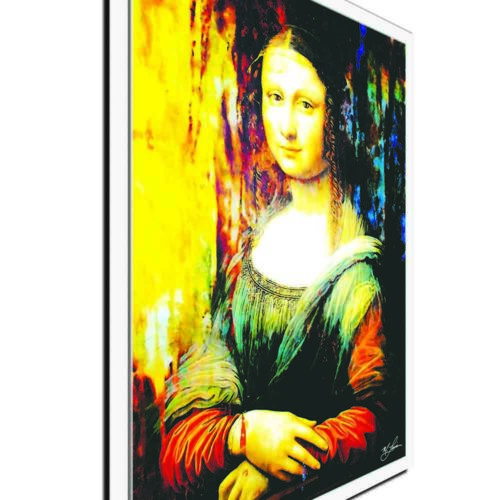 Ltd Ed Giclee Painting on Metal or Acrylic Details about  /Pop Art /'Mona Lisa Ageless Charm/'