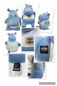 Harley Davidson 12 Quot Blue Hippo Motorcycle Plush Toy Doll