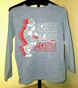 Nice Boys Place Size L 10-12 Own The Zone Street Hockey Long Sleeve Tee Shirt
