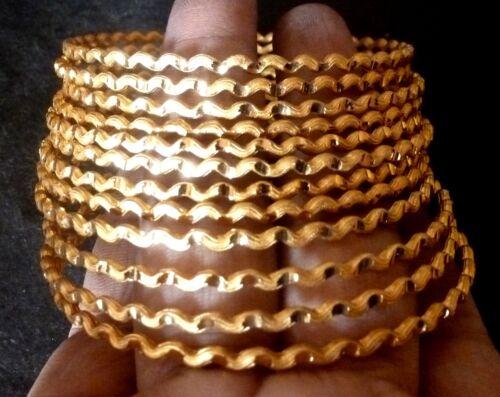 22K Gold Plated 12 pcs Designer Indian Bangle Bracelet 2.8/'/'