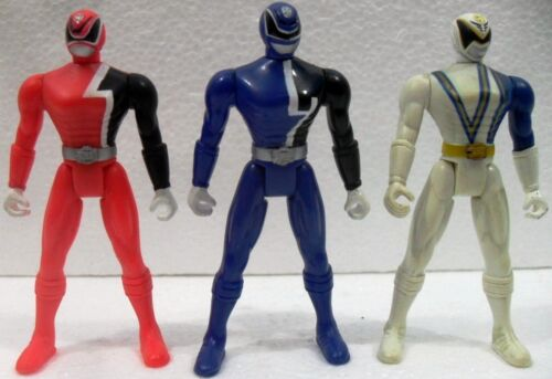"POWER RANGERS SHADOW S.P.D. ""WHITE, BLUE e RED"" BANDAI 2004"