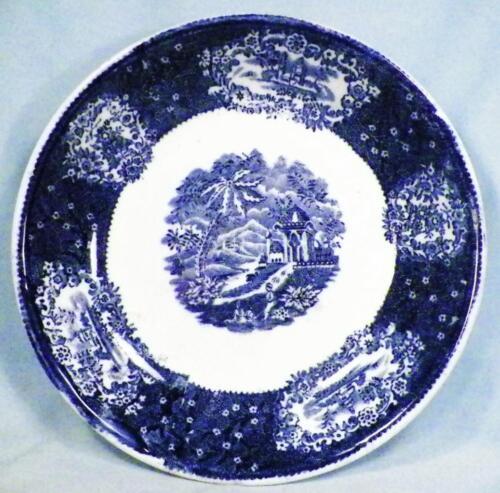 Malta Blue Transferware Soup Bowl Antique Earthenware F A Malhem Transfer