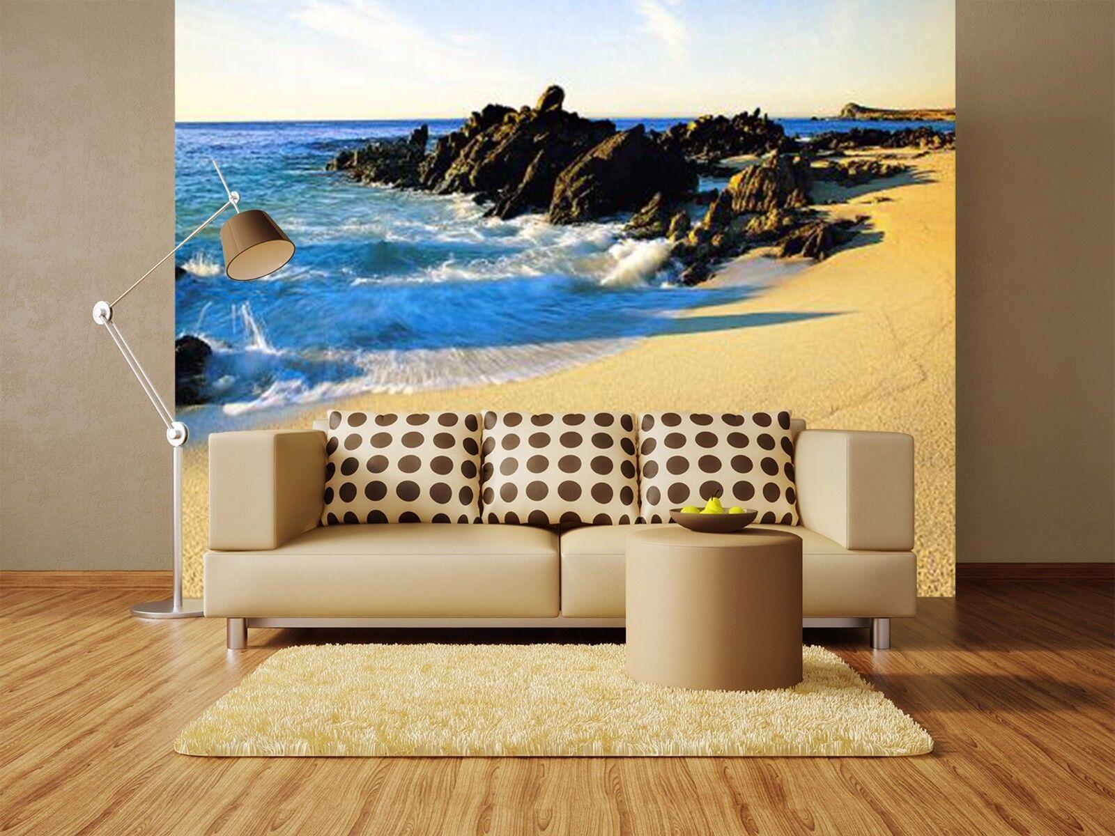 3D Blauer Himmel Himmel Himmel Strand7 Wandbild Fototapete Bild Tapete Familie Kinder DE Lemon | Auktion  | Sonderkauf  | Authentische Garantie  d07935