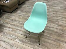 Genuine Eames DSR Molded Plastic Side Chair Wire Base Aqua Sky by Herman Miller
