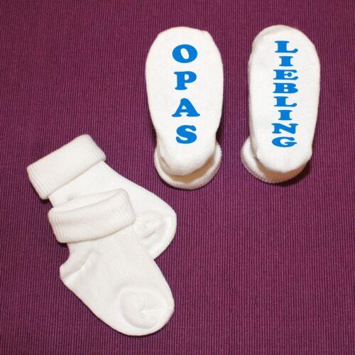 Coffret Bébé Chaussettes Mamas Omas Grand-Père Oncle Papas chérie-avec Wunschname