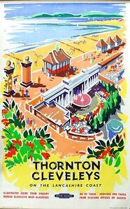 Vintage British Railways Blackpool  Railway Poster  A3 Print