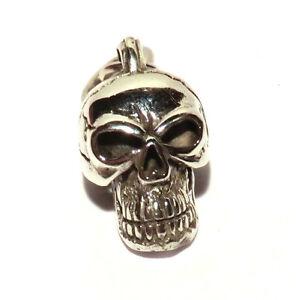 Skull-Schaedel-Totenkopf-Anhaenger-schwer-925er-Sterling-Silber-Biker-Schmuck-Neu