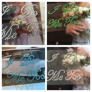Diamante Me I DO rhinestone wedding shoe sticker various colours